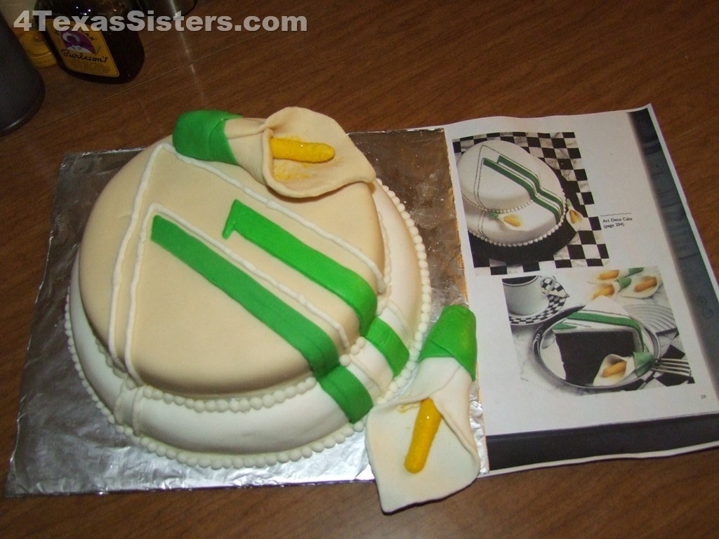 My Attempt at Shari's Wedding Cake