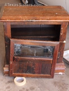 DIY-Old Cabinet to Dog Bed | 4 Texas Sisters