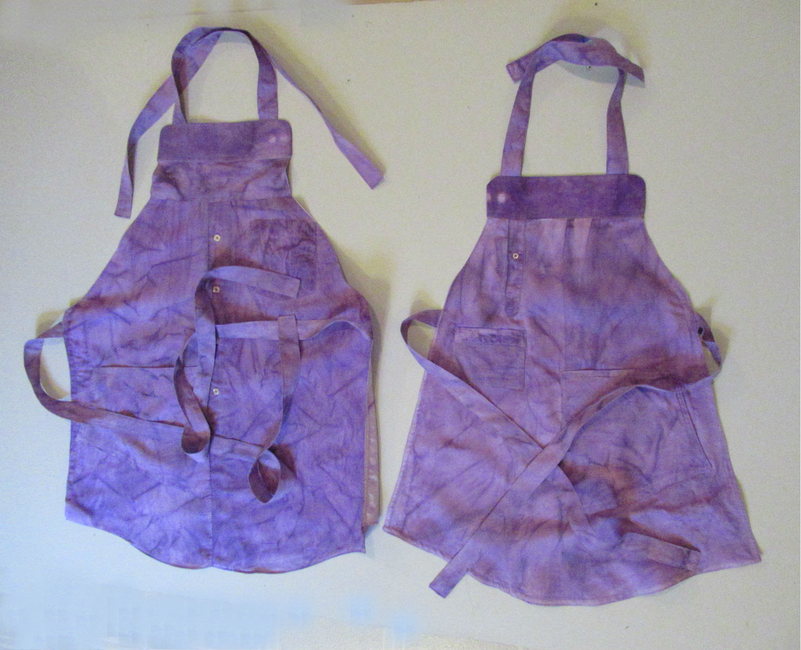 The Upcycle Challenge–Making an Adult-Child Apron Set using A Man's  Shirt